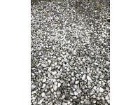 White decorative stone gravel pebble