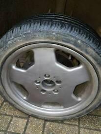 4x monoblock alloys wheels 5x112 fit mercedes vw etc