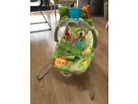 Fisher price jungle baby bouncer with vibration and sound