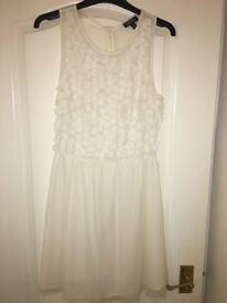 Women's white party style dress