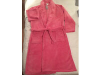 Bathrobe - Pink, Soft, Plush, Large Bathrobe (size 12-14) in orginal packaging - £12