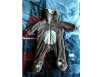 Baby 3-6 Months Bear Padded Suit Snow Suit