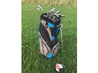 Top Golf Set: Callaway irons, Taylor made putter and bag.