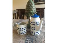 Midwinter coffee pot and jug