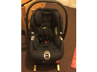 Mamas and Papas car seat. Suitable from birth. With isofix,can be used without it. Clean &smoke free