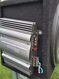 Large car subwoofer and amplifier