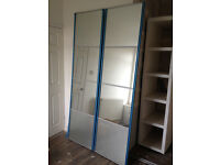 NEW & UNUSED Sliding Wardrobe Doors with Mirror and Frosted Glass - £65 ONO
