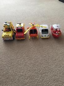 Fireman Sam emergency services vehicles.