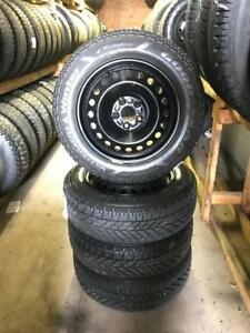 205 60R 16 GOODYEAR ULTRA GRIP WINTER SNOW TIRES & RIMS 5X108 FORD C-MAX HYRBID FOCUS FUSION 11/32NDS TREAD