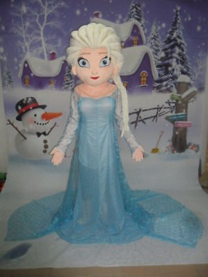 Elsa Princess Frozen Mascot Costume Cartoon Character Christmas Complete - Costume Cartoon