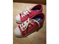 Pink heelys. Size 1. Immaculate condition.