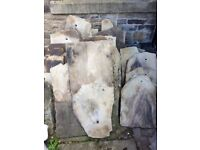 70 various sizes of good quality stone roofing slabs suitable for building restoration project
