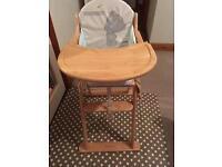 East coast nursery wooden high chair