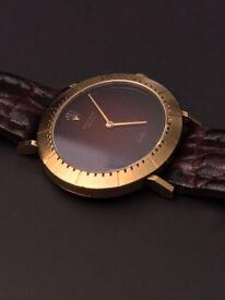 18K Solid Gold 1970s Mechanical Hand Wind Mens Swiss Watch