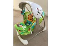Baby swing chair like new used three times