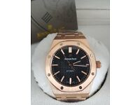 *** Automatic AP Watch, Rose Gold, Black Face New, Boxed ***