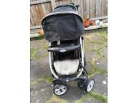 Graco baby pushchair 4 wheels used good condition £15