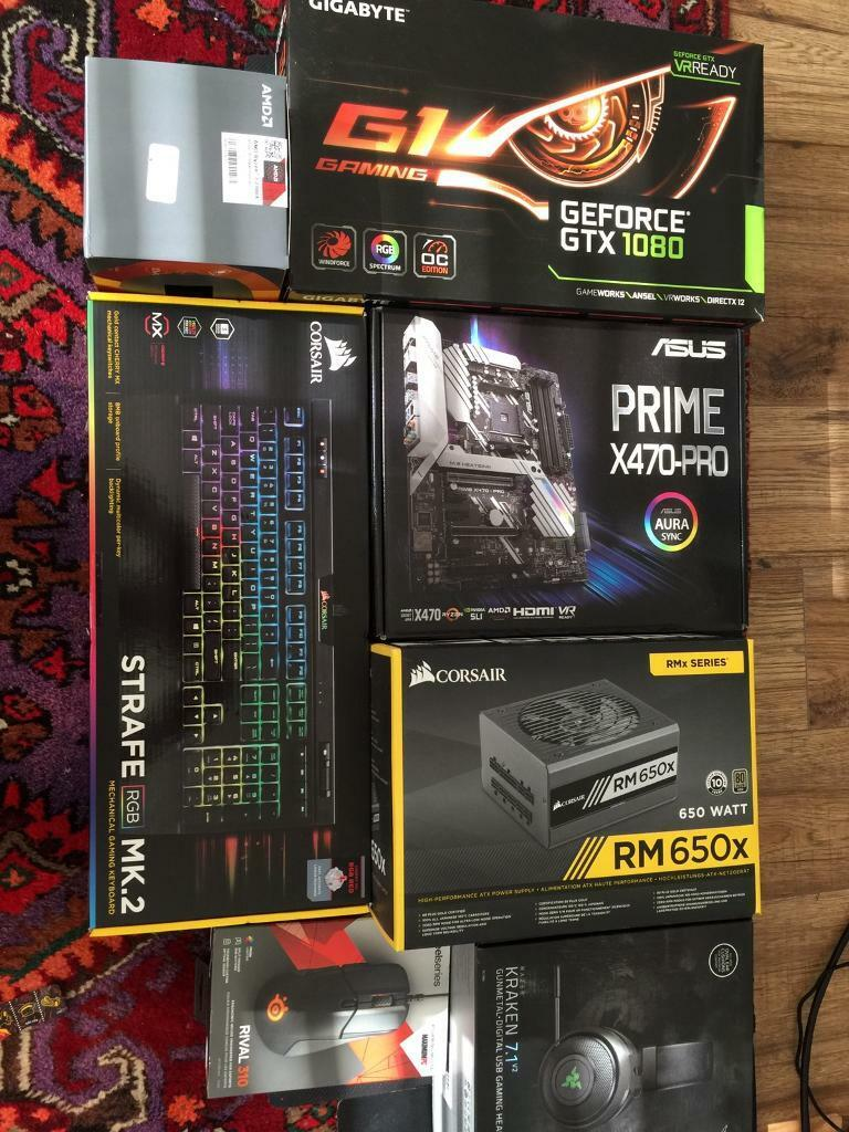 Gaming pc , RYZEN 7 2700x , x470-pro Mobo , gtx 1080 G1 | in  Holland-on-Sea, Essex | Gumtree