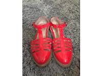 Red Topshop Summer Womens Sandals UK7