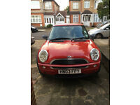 Mini One 1.6 Red, Excellent Condition and Low Mileage