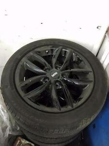 205 55 17 Continental Run Flat tires on Mini Copper OEM black alloy rims 7Jx17 ET50  5x120 -- $1000