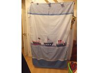 Children's bedroom curtains - lined, with nautical theme