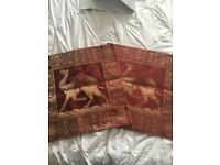 2x camel Cushion covers