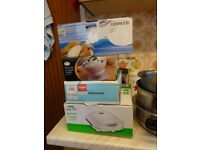 Saucepans,bakeware,sandwich toastie,crock pot,scales etc