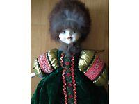 Russian collectable costume porcelain doll