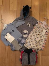 Brand new and worn once baby boy clothes bundles