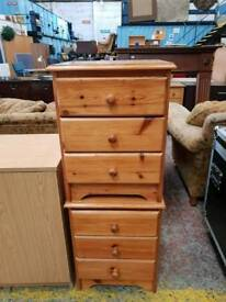 Pine bedside drawers available now £30