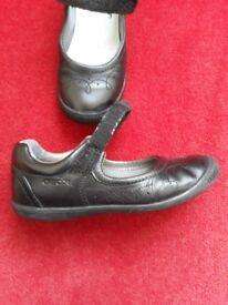 Geox girls black school shoes size UK12.5 EU 31