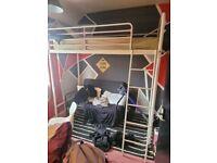 tall bunk/loft bed with mattress