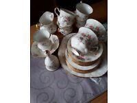 Paragon Fine Bone China Victoriana Rose Tea Set