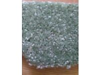 Jade green carpet