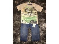 Boys Mickey Mouse tshirt and jeans set 12-18 months new with tags