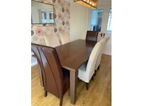 Barker and Stonehouse, Dining Room Table and 6 chairs.