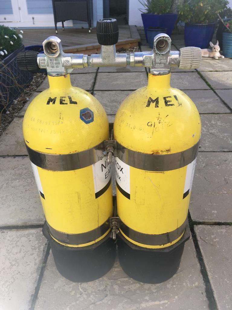Twin 10l steel manifolded cylinders