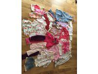 3-6 months baby girl clothes bundle job lot