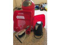 Kitchen Essentials - Bin, drainer, kettle etc
