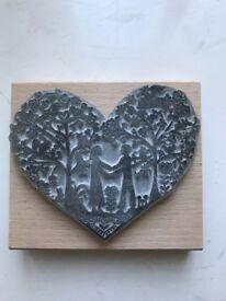Craft Stamp, heart design, couple, beautiful detail