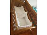 brand new baby crib with bedding and Mattress