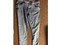 Size 16 women's jeans tie die jeans