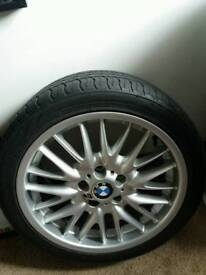 """18"""" BMW alloy and tyre"""
