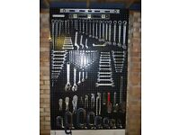 SPANNERS..WRENCHES..CLAMPS..WORKSHOP RACK