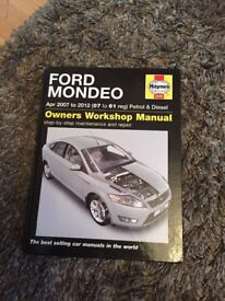 Haynes manual Ford Mondeo 04-2007 to 2012