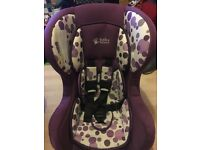 Car seat, up to 18kg. Reclining