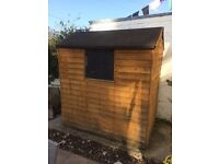 SORRY NOW GONE Used 6 x 4 shed FREE ! Buyer (!) to dismantle and collect
