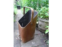 Vintage Wooden Coal Bucket / Scuttle Fireplace Decor Furniture-Upcycle