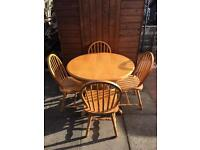 Pine Dining Table & Chairs ( Can Deliver )